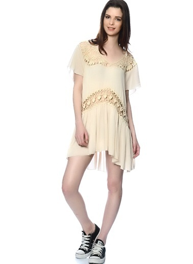 Somedays Lovin Dantelli Mini Elbise Renkli